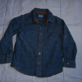 Denim style long sleeve shirt 2-3 years