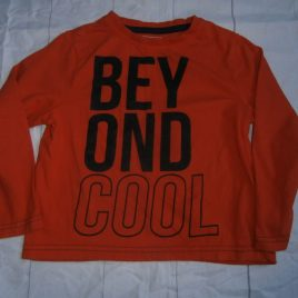 Orange 'Beyond Cool' orange top 3-4 years
