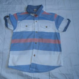 Striped short sleeved shirt 2-3 years