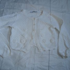 White cardigan 4-5 years