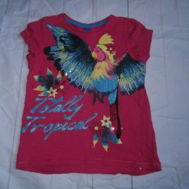 Pink parrot t-shirt 4-5 years