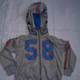 H&M grey baseball style hoodie 2-4 years