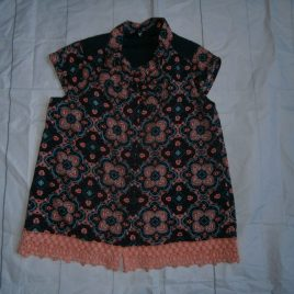Peach & navy short sleeved shirt  5 years
