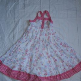 Pink flowers dress 4-5 years