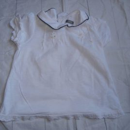 Next white daisy embroidered t-shirt  4-5 years