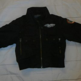 H&M black jacket 12-18 months