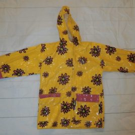 Yellow flowers raincoat 5 years