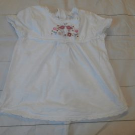 Next white with embroidery flowers t-shirt 4-5 years