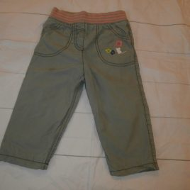 M&S stone/green trousers 12-18 months