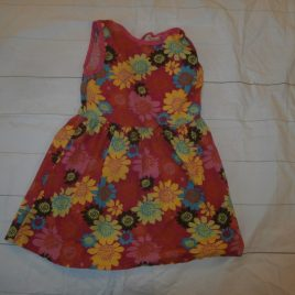 Pink flowers handmade dress 3-4 years