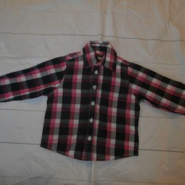 Pink checked shirt 18-24 months
