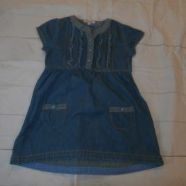 Blue Zoo soft denim tunic dress 4-5 years