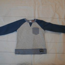 Grey & blue jumper 3-4 years