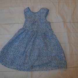 Blue flowers tunic/dress 4-5 years