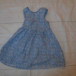 Blue flowers tunic/dress 4-5 years