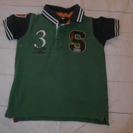 M&S green polo t-shirt 2-3 years