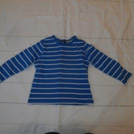 Blue & white stripy top 3-4 years