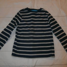 Grey & navy striped top 3-4 years