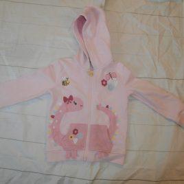 Pink dinosaur appliqué hoodie 3-4 years