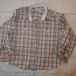 Orange & brown checked shirt 3-4 years