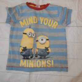 """mind your Minions"" t-shirt 3-4 years"