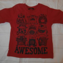 Red monsters t-shirt 2-3 years