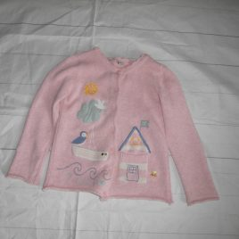 Pink seaside cardigan 4-5 years