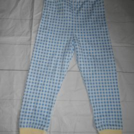 Blue & white checked leggings 2-3 years