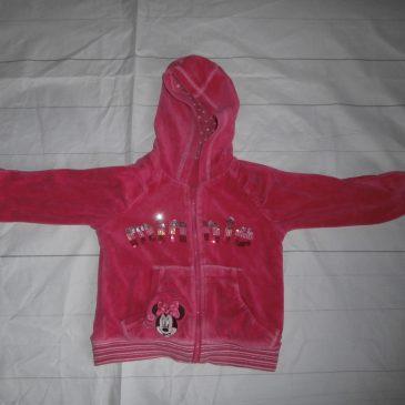 Pink Minnie Mouse hoodie 2-3 years