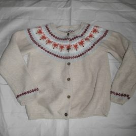 Fair Isle Fox cardigan 4-5 years