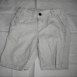 Grey stripy shorts 4 years