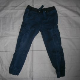 Navy cargo trousers 3-4 years