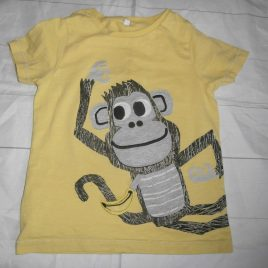 M&S monkey t-shirt 4-5 years