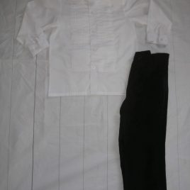 White shirt & black trousers outfit 4 years