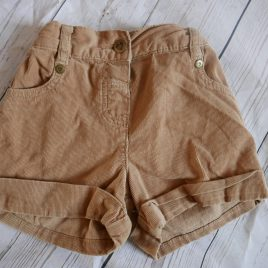 Brown cord shorts 18-24 months