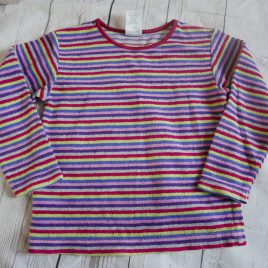 Multi coloured stripy top 18-24 months