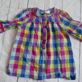 Checked blouse top 18-24 months