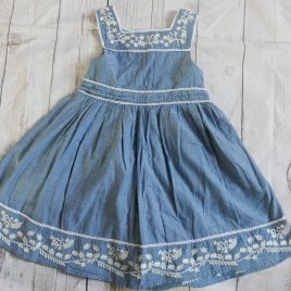 Rocha Little Rocha blue embroidered dress 18-24 months
