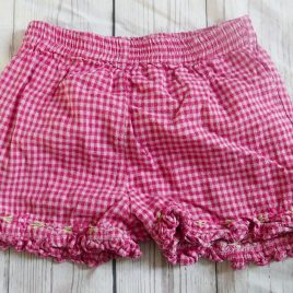 Pink checked shorts 18-24 months