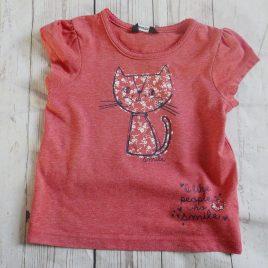 Coral cat t-shirt 18-24 months