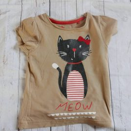 Brown cat t-shirt 18-24 months