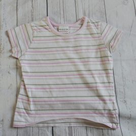Next grey & pink stripy t-shirt 18-24 months