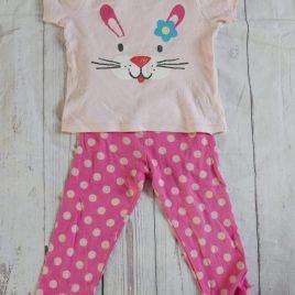 Rabbit t-shirt & leggings outfit 18-24 months