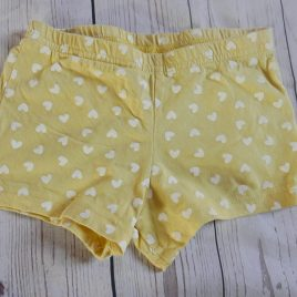 Yellow heart shorts 18-24 months