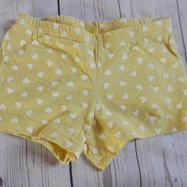Yellow heart shorts 18-24 months