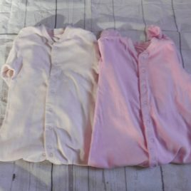 x2 Pink sleepsuits 18-24 months