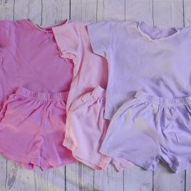 x3 Pink & purple short pyjamas 18-24 months