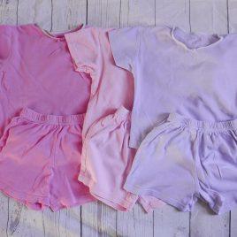 x3 Pink & purple short pyjamas 18-24 months