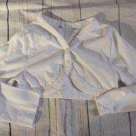 White bolero cardigan 18-24 months