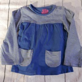 Blue stripy top 18-24 months